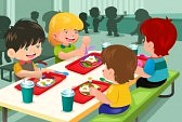 25440360-a-vector-illustration-of-elementary-students-eating-lunch-in-cafeteria